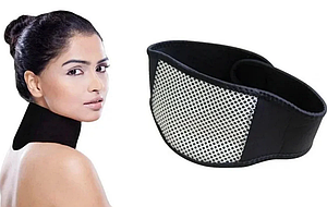 Турмалиновый шейный бандаж с магнитами Self heating neck guard band   Воротник для шеи