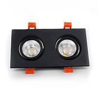 LED Светильник потолочный Черный двойной 5Wx2 угол поворота 45° 4100К
