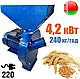 Зернодробилка Беларусь БКИ-4200 (4,2 кВт, 240 кг/год) | кормоизмельчитель, крупорушка, дробилка, корморезка, фото 3