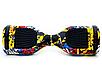 Гироборд Smart Balance 6,5 дюймов Граффити с желтым самобаланс | гироскутер детский Смарт Баланс 6,5 LED фары, фото 2
