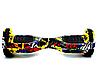 Гироборд Smart Balance 6,5 дюймов Граффити с желтым самобаланс | гироскутер детский Смарт Баланс 6,5 LED фары, фото 4
