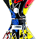 Гироборд Smart Balance 6,5 дюймов Граффити с желтым самобаланс | гироскутер детский Смарт Баланс 6,5 LED фары, фото 5