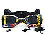 Гироборд Smart Balance 6,5 дюймов Граффити с желтым самобаланс | гироскутер детский Смарт Баланс 6,5 LED фары, фото 6
