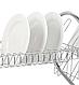Сушка для посуду Benson BN-004 з нержавіючої сталі 2 рівня 39*39*25 см | кухонні сушарка для посуду Бенсон, фото 3