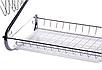 Сушка для посуду Benson BN-004 з нержавіючої сталі 2 рівня 39*39*25 см | кухонні сушарка для посуду Бенсон, фото 6