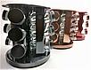 Набір банок для спецій і приправ Benson BN-142-9 з 12 судин на підставці рожевий | спецовник 12 шт Бенсон, фото 3