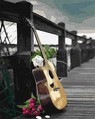 Рисование по номерам Гитарная романтика GX32548 Brushme 40 х 50 см (без коробки)