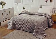 Плед покрывало ТМ Коlосо на Евро кровать серого цвета размер 220*240 Плед большого размера