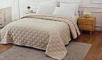 Плед покрывало ТМ Коlосо на Евро кровать бежевого цвета размер 220*240 Плед большого размера