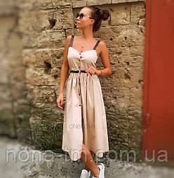 Сукня жіноча красиве літнє на гудзиках