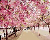 """Картина по номерам """" Цветение Сакуры"""" 40*50 см картина для рисования"""