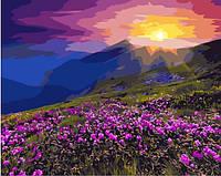 """Картина по номерам """"Солнце на горе"""" 40* 50 см картина для рисования"""