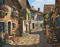 """Картина по номерам """" В тихом дворике"""" 40* 50 см картина для рисования"""