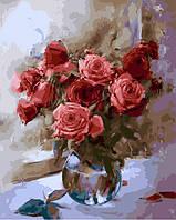 """Картина по номерам """"Розы в вазе"""" 40*50 см картина для рисования"""