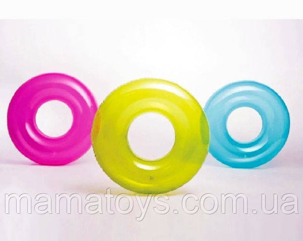 Надувной круг Однотонный 59260 Intex 3 вида 76 см