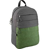 Рюкзак Сity 118-2 сіро - зелений, GoPack