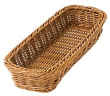 Корзина FoREST прямоугольная коричневая 28х11 см h5 см, Прямоугольная корзина для хлеба, Хлебница коричневая