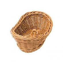 Корзина FoREST овальная коричневая 19х13 см h7 см, Корзина для хранения хлеба. Хлебница коричневая овальная
