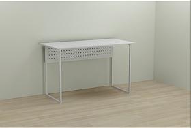 Белый компьютерный офисный стол 75x100x60 Ferrum-decor. Письменный стол угловой. pismenniy stol