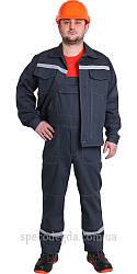 """Робочий літній костюм куртка з напівкомбінезоном """"Будівельник"""" 80% хб 56"""