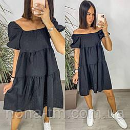 Сукня жіноча з коротким рукавом коттон