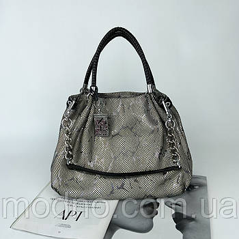 Женская кожаная сумка на плечо с лазерной обработкой Polina & Eiterou