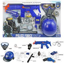 Поліція Ігровий набір хлопчикові. автомат, пістолет, шолом, наручники і тд., звук. Р А 015