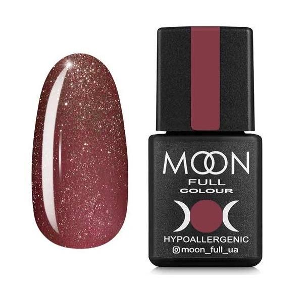 Гель-лак Moon Full №308 приглушенный розовый с шиммер, 8мл.