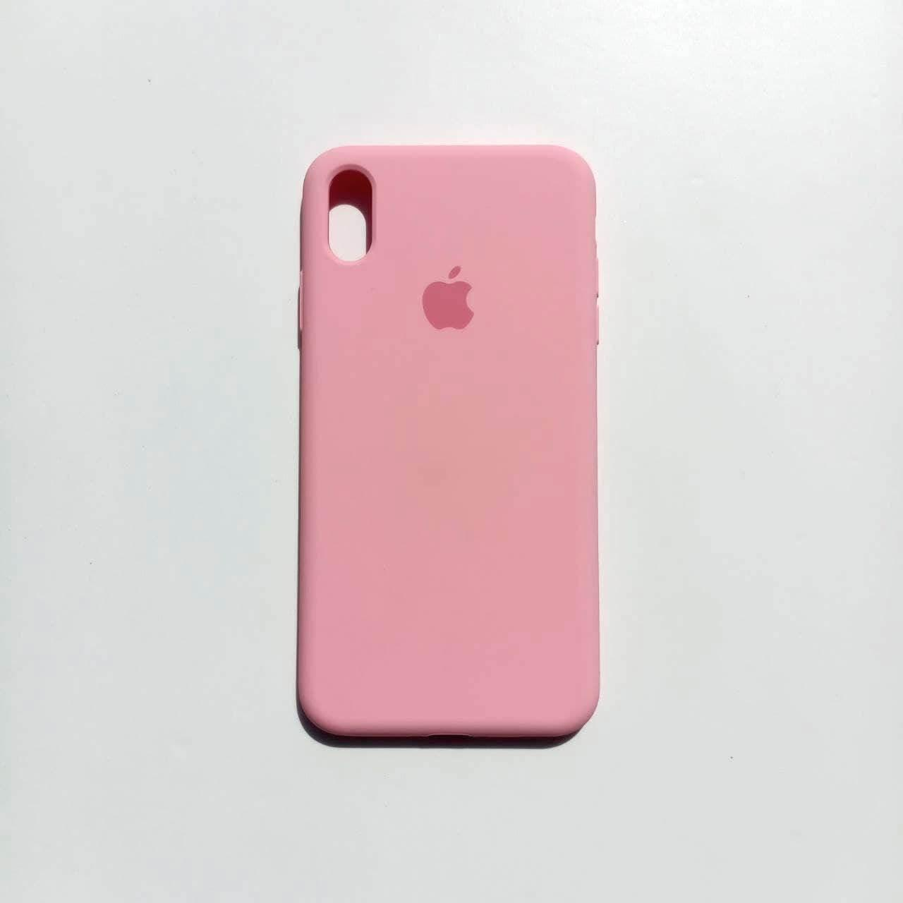 Чохол-накладка Silicone Case для Apple iPhone XS Max Rose Pink