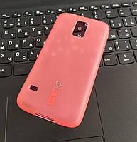 Чехол CAPDASE силиконовый плотный для Samsung S5 + Защитная пленка, Розовый