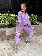 Ультрамодный женский костюм из петли - футер, 00934 (Лавандовый), Размер 42 (S), фото 2