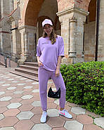 Ультрамодный женский костюм из петли - футер, 00934 (Лавандовый), Размер 42 (S), фото 4