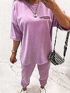 Ультрамодный женский костюм из петли - футер, 00934 (Лавандовый), Размер 42 (S), фото 8