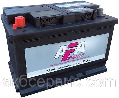Акумулятор автомобільний AFA 6СТ-70 Аз Plus