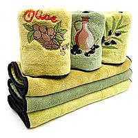 Набор кухонных полотенец Оливка 3 шт. (микрофибра), 50х25 см, фото 1