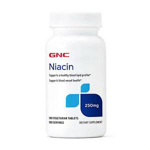 Витамин В3, Ниацин GNC Niacin 250 mg 100 veg tab