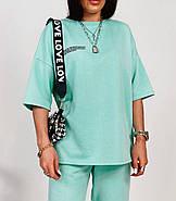 Спортивний жіночий костюм двійка з турецької петлі-футер, 00936 (Ментоловий), Розмір 42 (S), фото 4