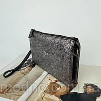 Жіноча шкіряна сумка клатч через плече на три відділення Desisan Десісан, фото 6