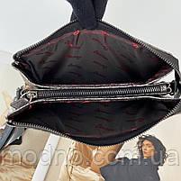 Жіноча шкіряна сумка клатч через плече на три відділення Desisan Десісан, фото 8