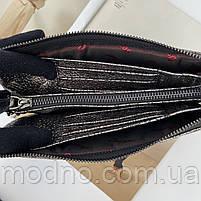 Жіноча шкіряна сумка клатч через плече на три відділення Desisan Десісан, фото 9
