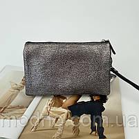 Жіноча шкіряна сумка клатч через плече на три відділення Desisan Десісан, фото 7
