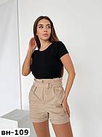 Стильные женские джинсовые шорты на высокой талии