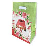 Весільний паперовий пакет на коровай торт