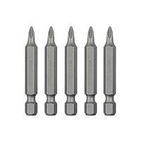 """Комплект отверточних насадок PZ1 1/4""""*50мм, ACR, S2, уп. 5шт., STORM INTERTOOL VT-0203"""