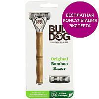 Bulldog Skincare For Men, Оригинальная бамбуковая бритва, 2 картриджа с 5 лезвиями, официальный сайт