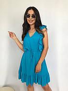 Плаття літнє жіноче без рукавів, з регульованим на талії поясом, 00932 (Блакитний), Розмір 42 (S), фото 2