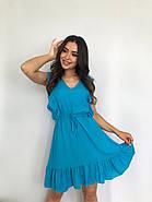 Плаття літнє жіноче без рукавів, з регульованим на талії поясом, 00932 (Блакитний), Розмір 42 (S), фото 3