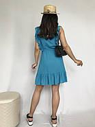 Плаття літнє жіноче без рукавів, з регульованим на талії поясом, 00932 (Блакитний), Розмір 42 (S), фото 4