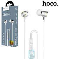 Наушники с микрофоном Hoco M42 бело-серебристые