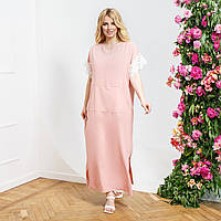 Женское платье в стиле Бохо с накладным карманам батал, фото 1